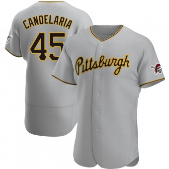 Authentic Pittsburgh Pirates John Candelaria Road Jersey - Gray