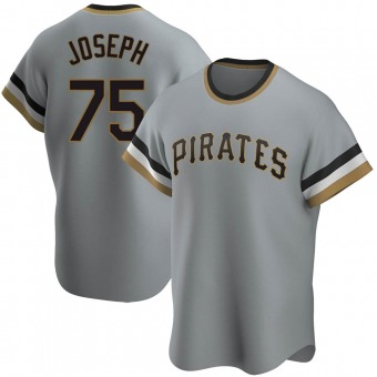 Replica Pittsburgh Pirates Corban Joseph Road Cooperstown Collection Jersey - Gray