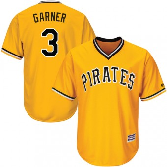 Authentic Pittsburgh Pirates Phil Garner Majestic Cool Base Alternate Jersey - Gold
