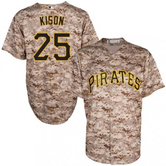 Youth Authentic Pittsburgh Pirates Bruce Kison Majestic Cool Base Alternate Jersey - Camo